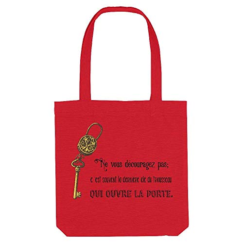kase Gs vintage Tote My Citation Rouge cle Coton wUEvqgdq