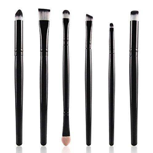 Makeup Brushes,Vovotrade 6PCS Cosmetic Makeup Brush Lip Makeup Brush Eyeshadow Brush (Black)