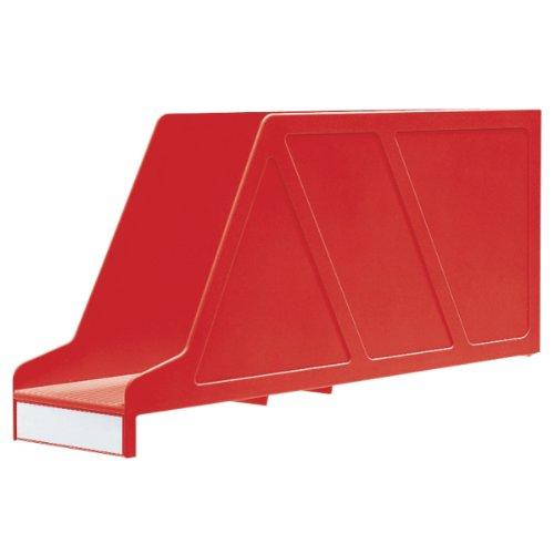 Leitz 24210025 - Archivador revistero, color rojo: Amazon.es: Oficina y papelería