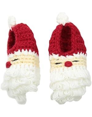 Unisex-Baby Crochet Santa Booties