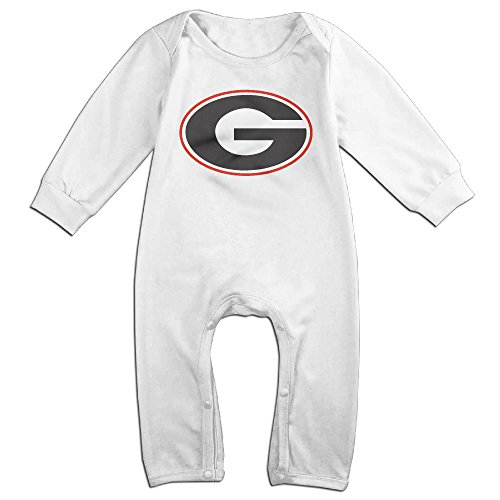 Price comparison product image OOKOO Baby's University Of Georgia UGA Bodysuits Outfits White 12 Months