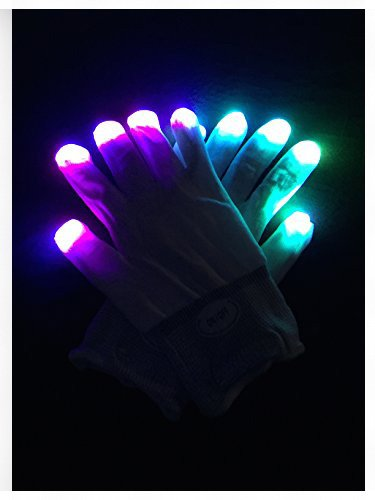 WDCS LED Gloves Party Light Show Gloves- 6