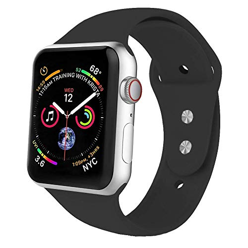 HILIMNY Yunsea Compatible for Apple Watch Band 42mm, New Nylon Sport Loop, with Hook and Loop Fastener, Adjustable Closure Wrist Strap, Replacement Band Compatible for iwatch, 42mm, Dark Olive