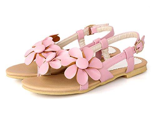 86fdaf1fbf8bb4 Damen Mädchen Blumen Sandalen Sommer Strand Schuhe Pink 43 EU Aisun  Verkaufsshop Günstig Kaufen Mit Mastercard