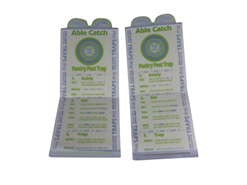 8 Pantry Moth Traps   Effective Non-toxic Pheromone Lure   USA Made   Guarantee by Able Catch (Image #3)