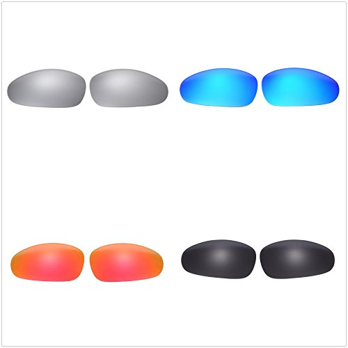 Set of 4 Polarized Replacement Lenses for Oakley Juliet Sunglasses NicelyFit