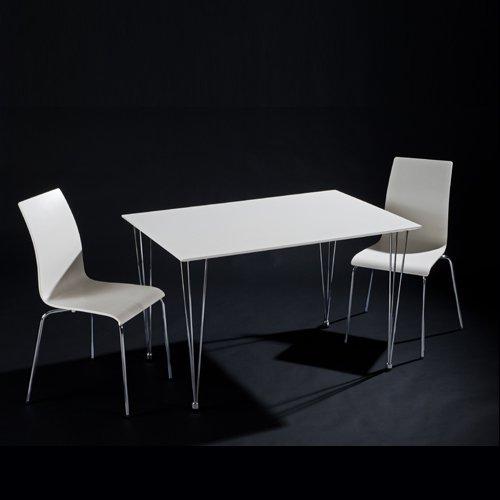 Essgruppe 3 teilig: weißer esstisch / küchentisch kopenhagen   2 ...