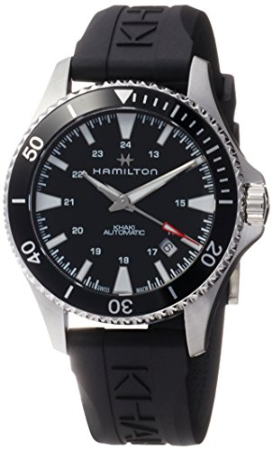 Hamilton H82335331 Khaki Navy Scuba Auto Men's Watch Black Strap