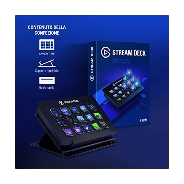 Elgato Stream Deck Individuale Controllo Creazione di Contenuti in Diretta con 15 Tasti LCD Personalizzabili, per Windows 10 e macOS 10.13 o Successivi 6 spesavip