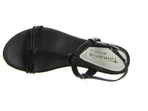 Tamaris - Sandalias de vestir para mujer negro negro 37