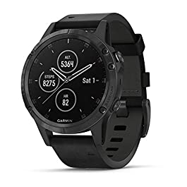 Garmin fenix 5 Plus, Premium Multisport GPS Smartwatch, Features Color Topo Maps, Heart Rate Monitoring, Music and…