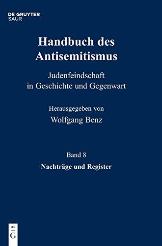 Handbuch Des Antisemitismus, Band 8, Nachträge Und Register (German Edition)