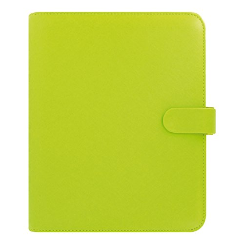 Filofax 2018 Saffiano, Pear, Leather Organizer, A5 (8.25 x 5.75), Planner with to do and Contacts Refills, Indexes and notepaper (C022533-18)