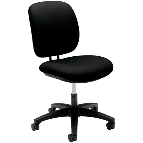 HON ComforTask Chair – Low Back Chair for Office or Computer Desk, Black (H5901)