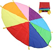 Kid Parachute, Kids Exercise Parachute, Early Education Equipment Exquisite Multi‑Function for Multiplayer Gam