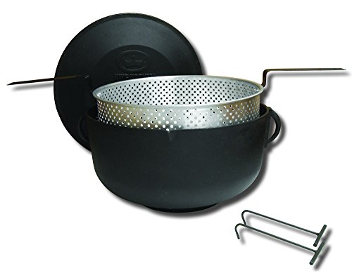 King Kooker #5925 Flat Bottom Cast Iron 5-Gallon Pot Package by King Kooker
