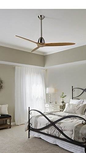 Fanimation Studio Collection Prop 60-in Brushed Nickel Downrod Mount Indoor Ceiling Fan with Remote Control 3-Blade ENERGY STAR