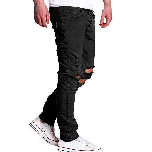 Slim Streetwear Hip N Nero Pantaloni Estilo Strappati Jeans Fit Da Estivi Especial Uomo Distrutti Hop Aderenti Maschili Pwqz4O