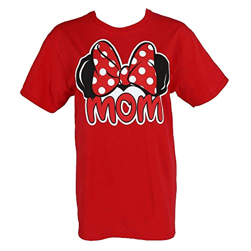 Disney Plus Size T-shirt Mom Minnie Mouse Ears & Bow Red (XXL) ()