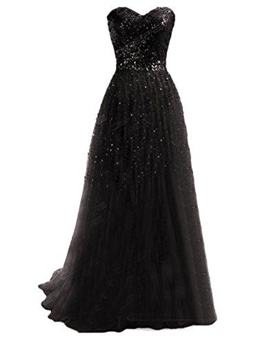 Boda Negro Largos Tirantes Gala Vestidos Fiesta Noche Maxi Sin De Mujer Ceremonia Elegantes Coctel wqpTfR6z