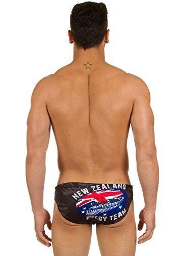 Turbo - Bañador Rugby New Zealand de Waterpolo Competicion Natación y Triatlón Patrón de Ajuste cómodo: Amazon.es: Ropa y accesorios