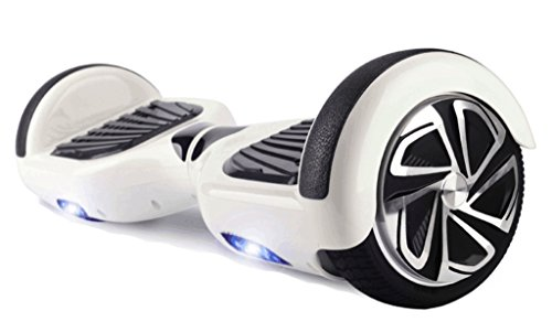 6.5' UL2272 Certified Smart Self Balancing Hoverboard Personal Adult & Kids Transporter with LED Light (White)