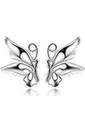 Petite .925 Silver Plated Stud Earrings Collection