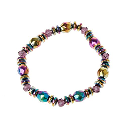 ForHe 1pc Weight Loss Multi-color Magnetic Bracelet Beads Hematite Stone for Therapy Health