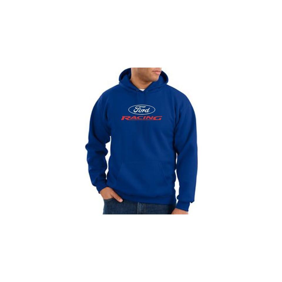Ford Racing Hoodie   Mens Hooded Sweatshirt Hoody   Royal Blue Clothing