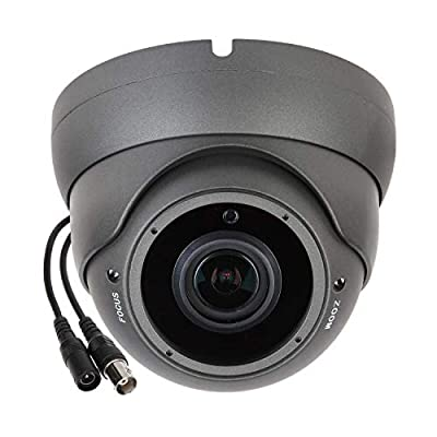 Sinis Super Hybrid 5MP 4MP 1080P HD-TVI/CVI/AHD/960H CCTV Surveillance Security Camera Day Night Vision Waterproof Outdoor/Indoor 2.8-12mm Varifocal Lens Metal ArrayDome Video System from Sinis Security
