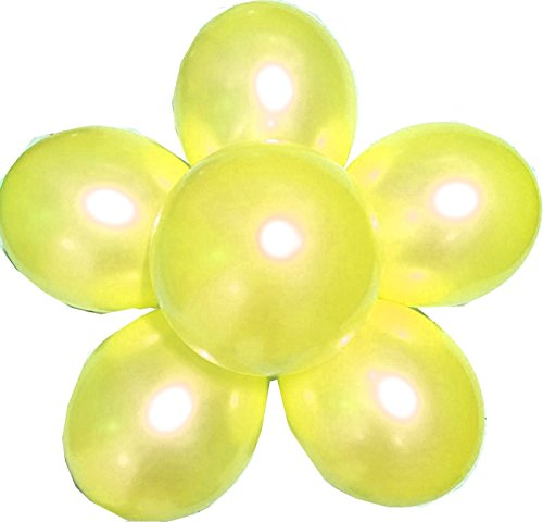 elecrainbow-100-pack-12-round-pearlescent-thicken-latex-balloons-shining-yellow-be-aware-of-safety-i