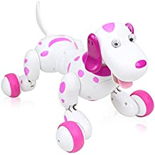 Lemonda Robot Dog,Wireless Remote Control Dog Smart Dog Electronic Pets Interactive Puppy Toy Dog For Kids, Children,Girls, Boys Pink
