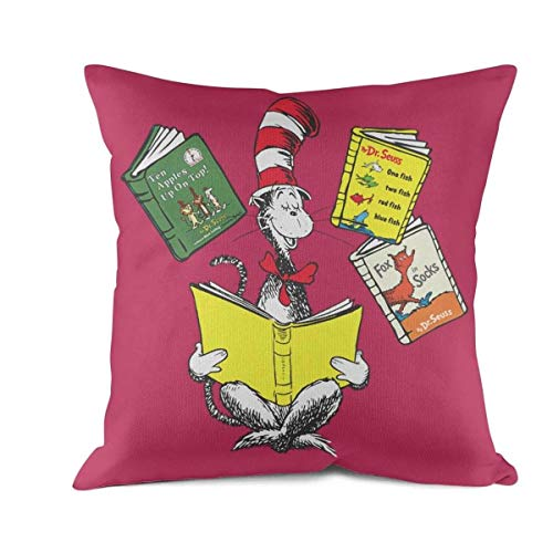 yhcnjnn The cat in The hat Fox in Socks-Green Eggs and ham dr Seuss Sham Stuffer Decorative Throw Pillow Cover