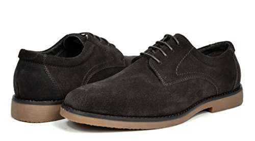 Wrangle Lace YORK BRUNO Men's NEW Suede up Leather dk MARC Oxfords Shoes brown OOxvY