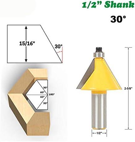 """NO LOGO ZZB-ZT, 1pc 1/2"""" 12,7mm 30 Grad Fasen Kantenbeschneiderads Fräser Bevel Messer Holzbearbeitung Fräser for Holzschneider (Size : 1pc 1/2"""" 12.7mm)"""