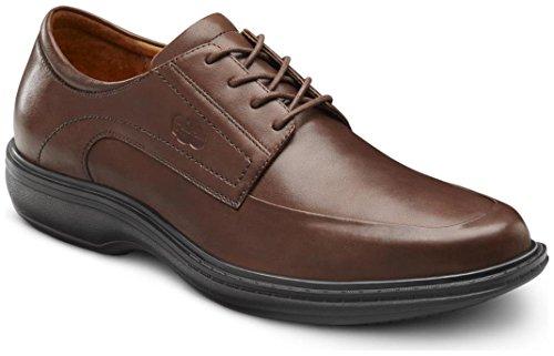Dr. Comfort Classic Men's Therapeutic Diabetic Extra Depth Dress Shoe Leather LaceChestnut 6 Medium (B/C/D)