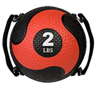 Champion Sports Rhino Ultra Grip Medicine Ball, Red