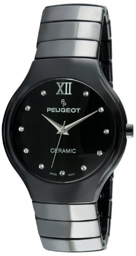 Peugeot Swiss Women's Black Ceramic Watch PS4898BK by Peugeot