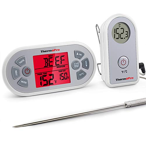ThermoPro TP21 Digital Wireless Meat Cooking BBQ Thermometer for Grilling Smoker Oven Thermometer with 8.5'' Upgraded Super Long Probe