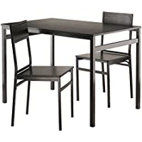 Winsome Wood 20343-WW Furniture Piece Milton 3-Pc Set Dining Table with Chairs
