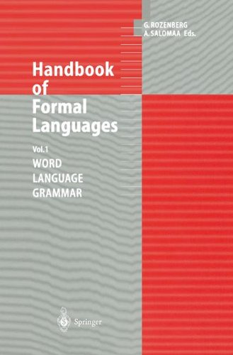 Handbook of Formal Languages: Volume 1 Word, Language, Grammar