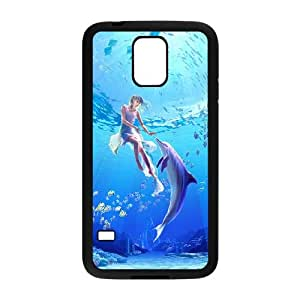 Dolphin Samsung Galaxy S5 Cell Phone Case Black yyfabc-509293