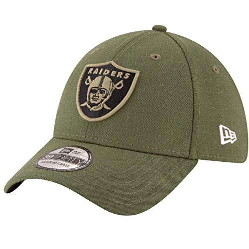 - New Era Mens NFL 2018 Salute to Service 39Thirty Flex Fit Hat (Small/Medium, Oakland Raiders)