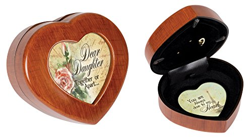 Cottage Garden Daughter Together or Apart Woodgrain Jewelry Music Box Plays Light Up My Life (Box Treasure Tower Music)