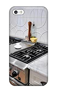 Anti-scratch And Shatterproof Gourmet Oven And White Backsplash With Geometric Textured Tile Phone Case For Iphone 4/4s High Quality Tpu Case