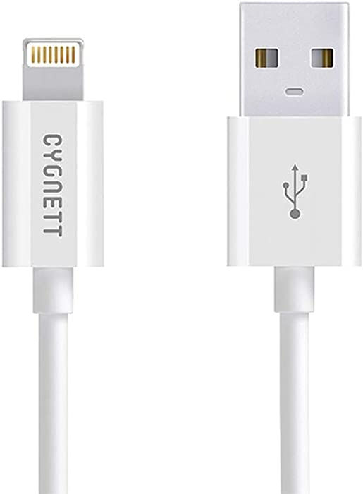 Cygnett CY1101PCCSL Lightning Charge and Sync Cable for iPhone 5/5s/iPod touch 5G/iPad 3 - Retail Packaging - White