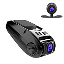APEMAN Dash Cam Full HD 1080P Car Video Recorder Dual Lens 170° Wide Angle Car Dashboard Camera Capacitor Edition with G-Sensor, WDR, Motion Detection & Loop Recording