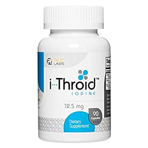 RLC, i-Throid 12.5 mg, Iodine and Iodide Supplement to Support Thyroid Health and Hormone Balance, 90 capsules (90…