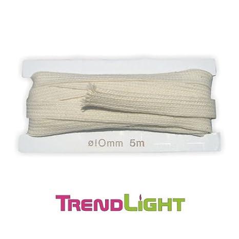 TrendLight 860481 Litzendocht für Öllampen - Lampendochte 10 mm / 5 m