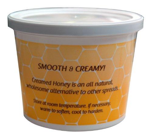 [Mann Lake CN565 24-Pack Creamed Honey Tub with Lid, 1-Pound] (24 Ct Tub)